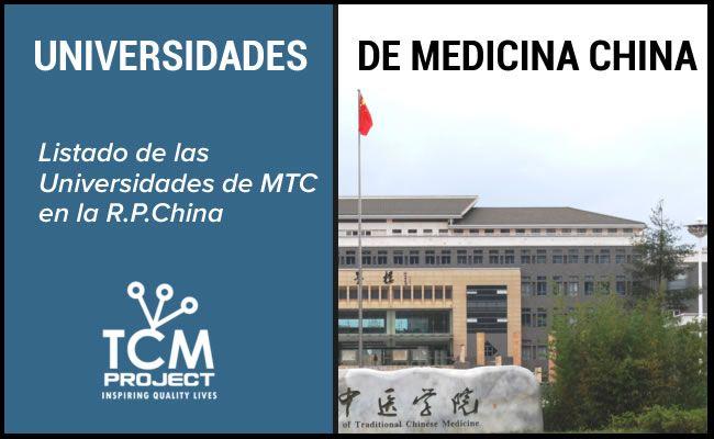 Universidades Chinas Medicina China