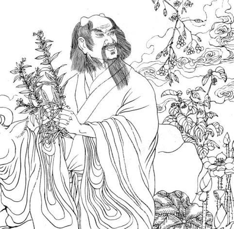 Respresentación del mítico Emperador Yan (炎帝, Yándì) conocido por ShenNong 神农.