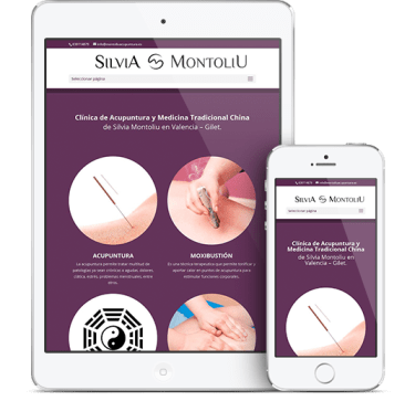 Ipad Laptop clinica de acupuntura diseño web
